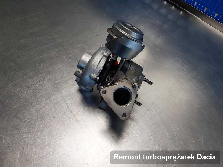 Turbosprężarka do auta firmy Dacia zregenerowana w warsztacie gdzie realizuje się usługę Remont turbosprężarek
