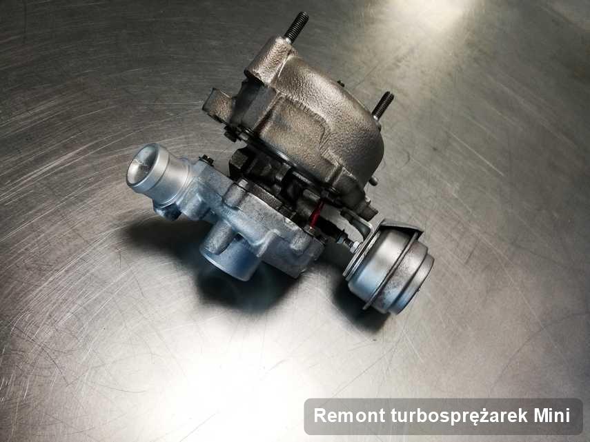 Turbosprężarka do diesla firmy Mini po naprawie w firmie gdzie przeprowadza się  serwis Remont turbosprężarek