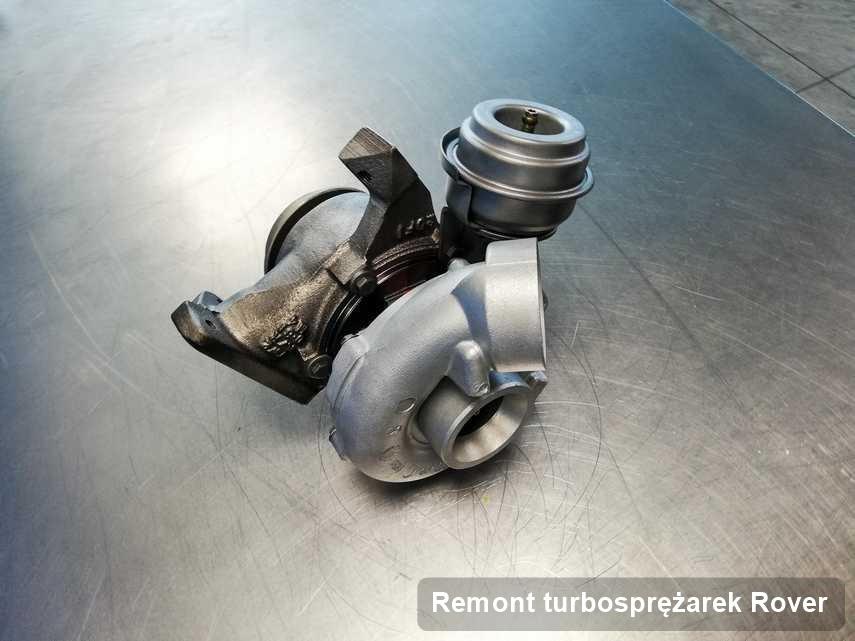 Turbosprężarka do osobówki sygnowane logiem Rover naprawiona w laboratorium gdzie przeprowadza się  usługę Remont turbosprężarek