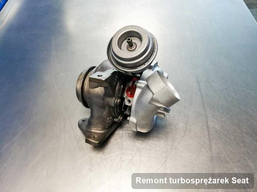 Turbosprężarka do pojazdu sygnowane logiem Seat naprawiona w warsztacie gdzie realizuje się usługę Remont turbosprężarek