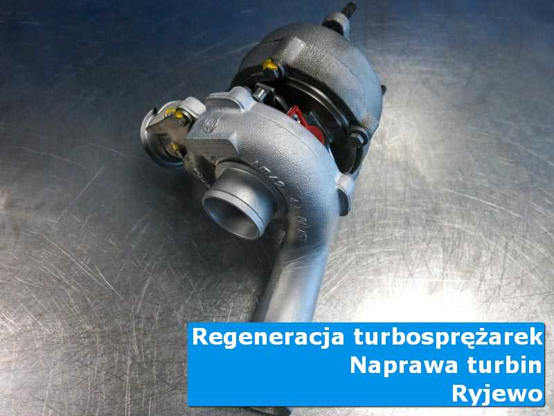 Układ turbodoładowania po serwisie na stole w pracowni z Ryjewa