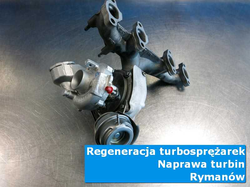 Turbosprężarka po demontażu w nowoczesnej pracowni w Rymanowie