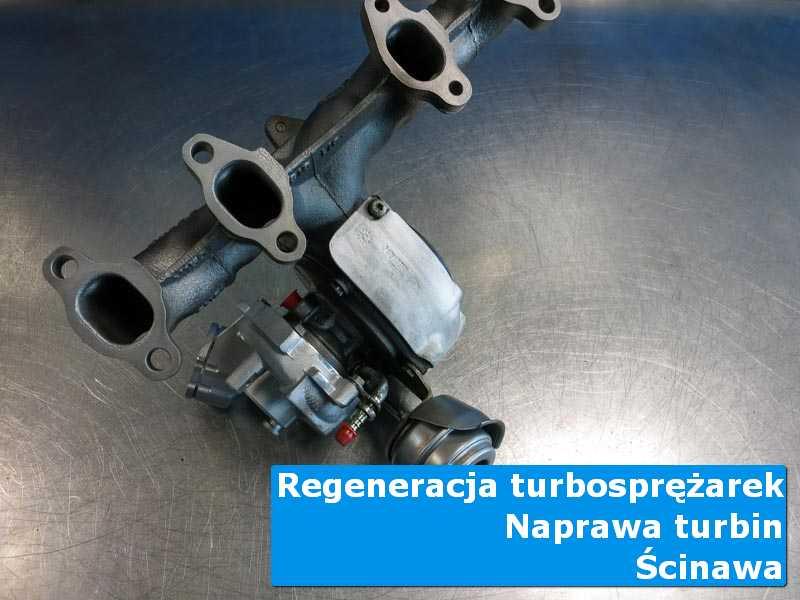 Turbosprężarka przed pakowaniem w specjalistycznej pracowni z Ścinawy