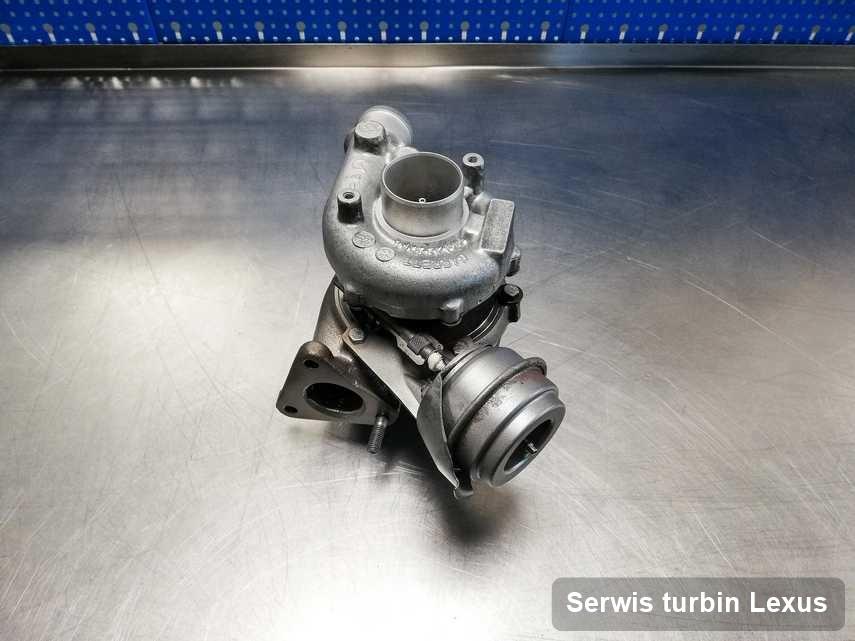 Turbina do samochodu osobowego producenta Lexus zregenerowana w laboratorium gdzie realizuje się usługę Serwis turbin