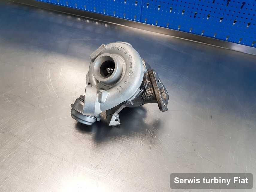 Turbina do diesla sygnowane logiem Fiat po naprawie w firmie gdzie zleca się usługę Serwis turbiny