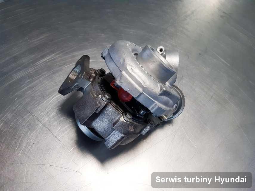 Turbina do samochodu marki Hyundai zregenerowana w pracowni gdzie przeprowadza się  serwis Serwis turbiny
