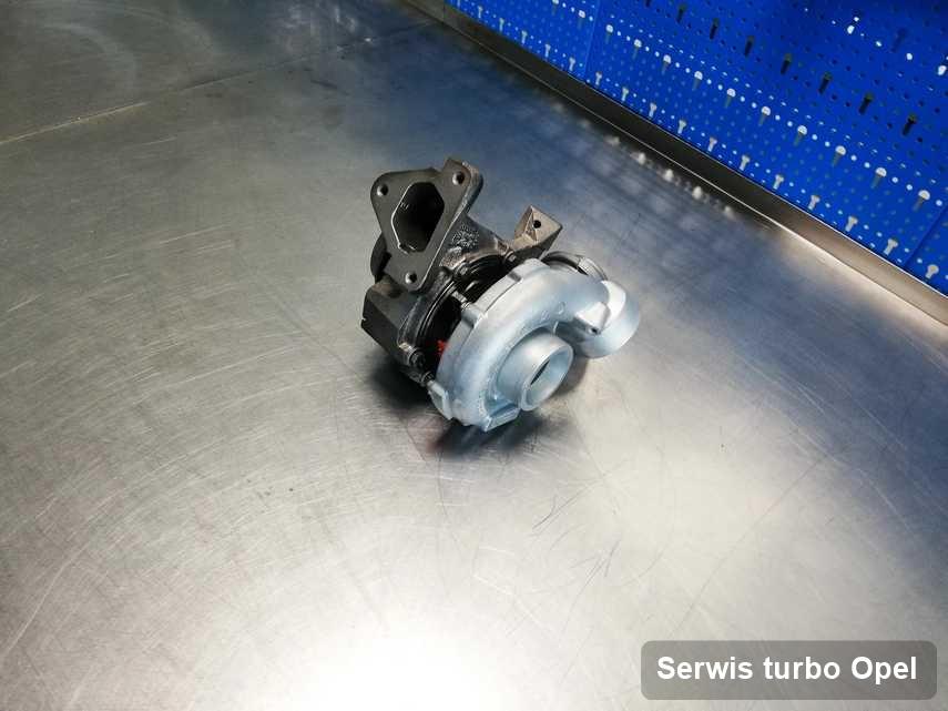 Turbosprężarka do diesla marki Opel po remoncie w przedsiębiorstwie gdzie wykonuje się serwis Serwis turbo