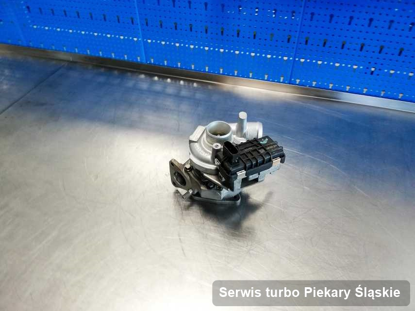 Turbosprężarka po przeprowadzeniu serwisu Serwis turbo w pracowni regeneracji w Piekarach Śląskich w doskonałej jakości przed spakowaniem
