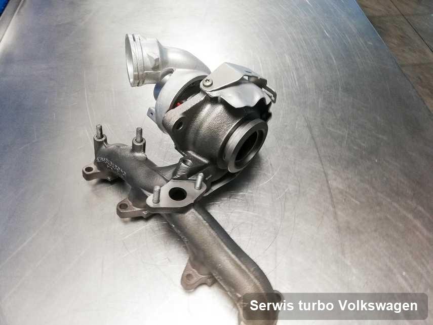 Turbina do diesla spod znaku Volkswagen po remoncie w firmie gdzie przeprowadza się  usługę Serwis turbo