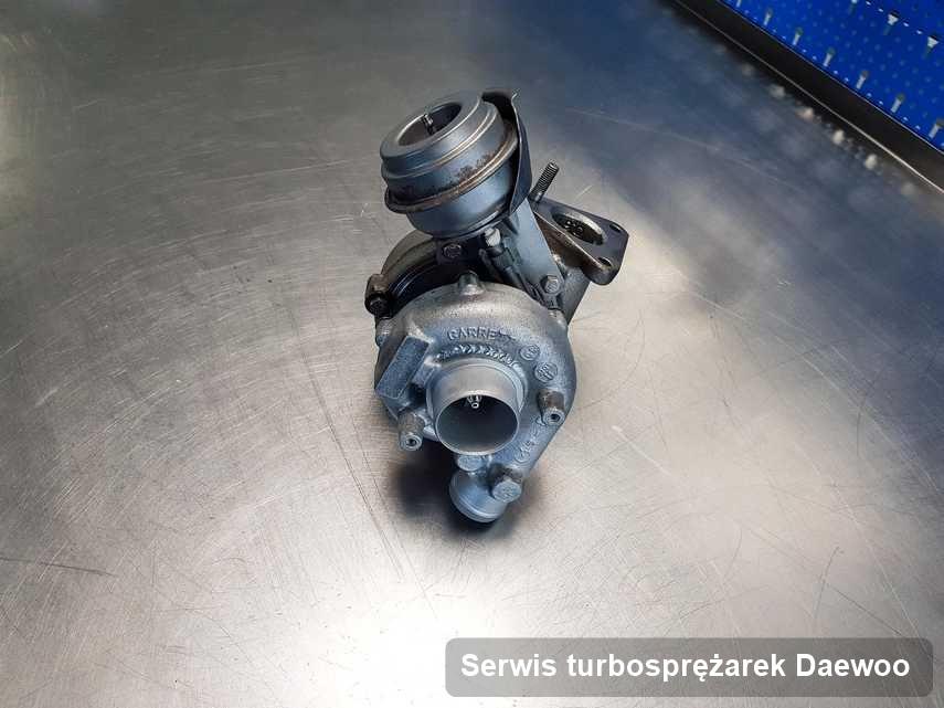 Turbosprężarka do auta osobowego producenta Daewoo wyremontowana w firmie gdzie przeprowadza się  serwis Serwis turbosprężarek
