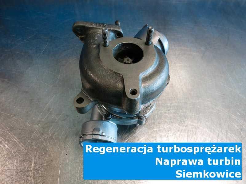 Układ turbodoładowania przed wymianą w nowoczesnej pracowni z Siemkowic