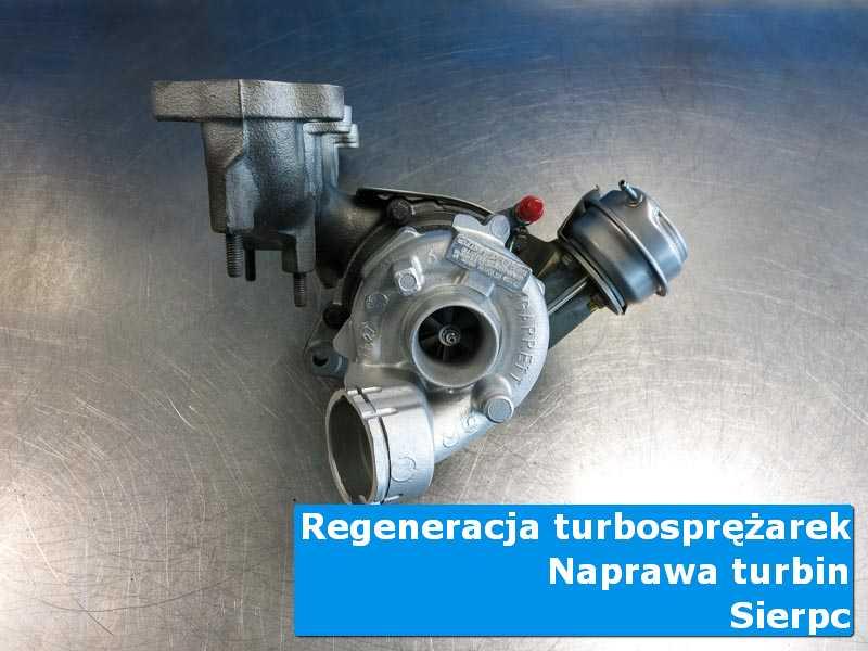 Układ turbodoładowania przed montażem na stole pracowniczym z Sierpca