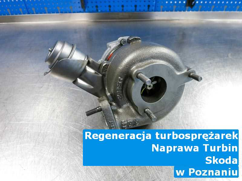 Turbosprężarka z samochodu Skoda zrobiona z Poznania