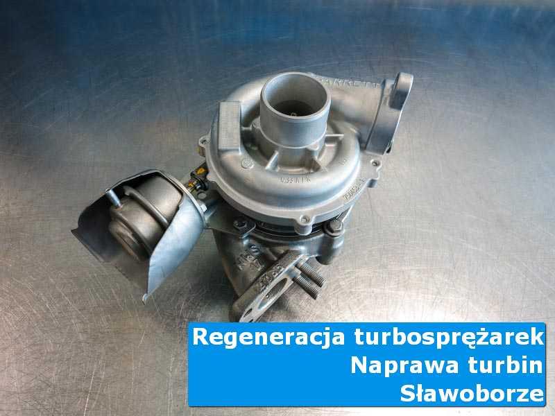 Układ turbodoładowania po demontażu w pracowni z Sławoborza