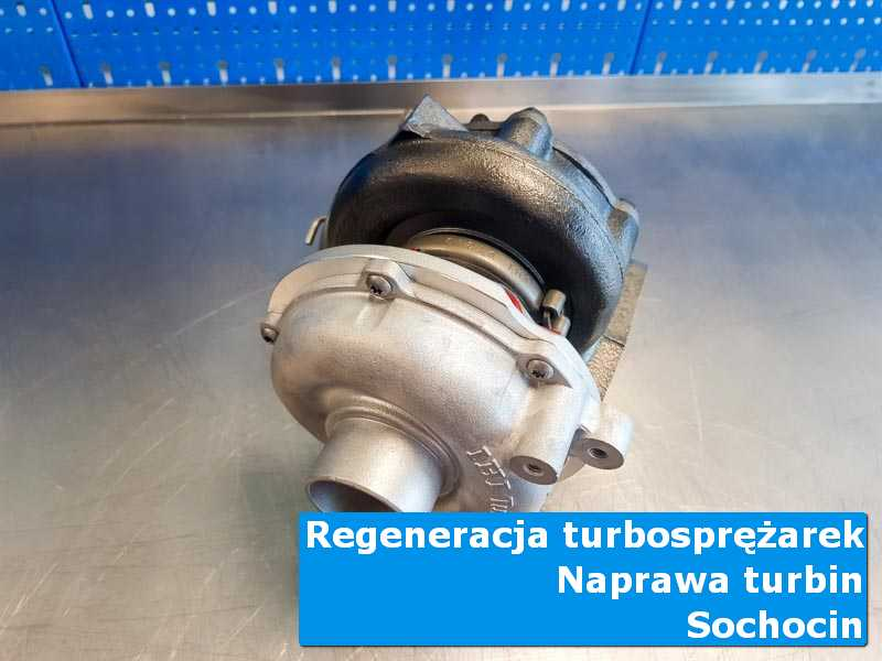 Układ turbodoładowania przed wysyłką w pracowni w Sochocinie