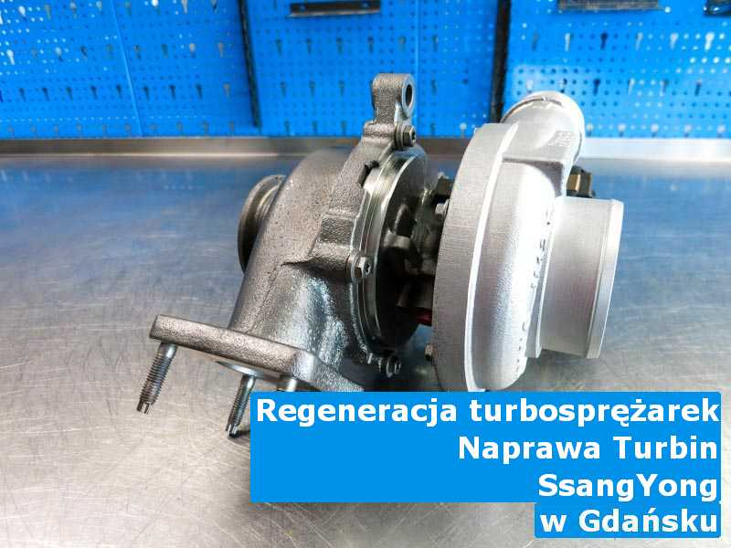 Turbo z auta SsangYong po procesie regeneracji pod Gdańskiem