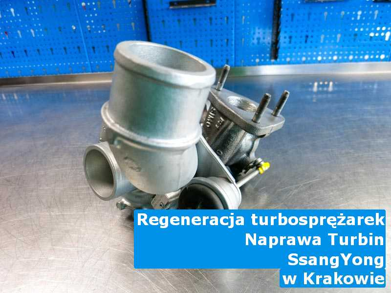 Turbosprężarka z auta SsangYong przed wysyłką z Krakowa