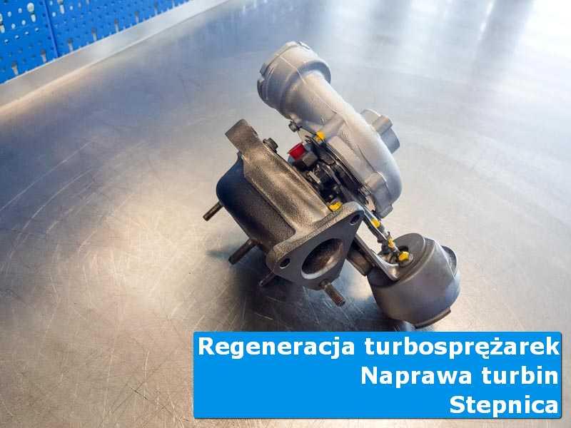 Układ turbodoładowania po wymianie na stole w pracowni w Stepnicą