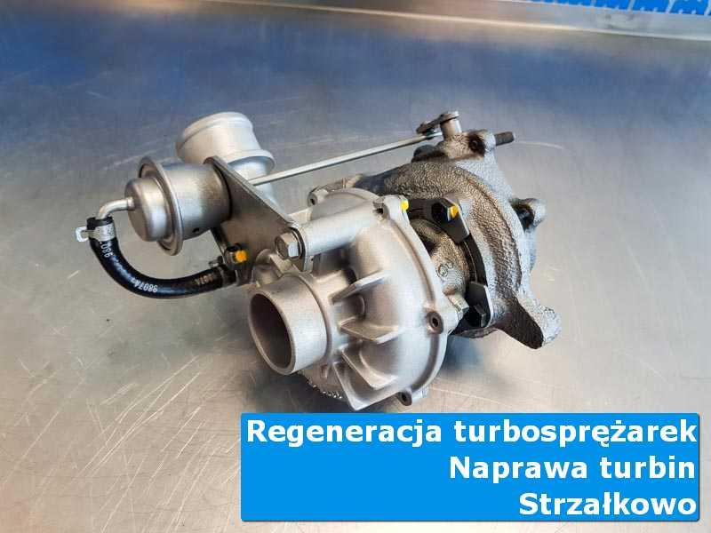 Turbosprężarka po wymianie na stole w laboratorium w Strzałkowie