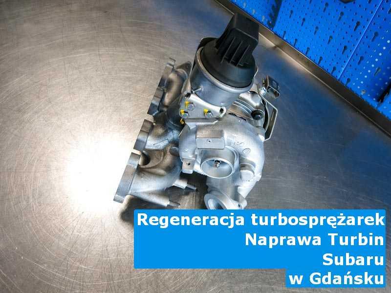 Turbosprężarka z samochodu Subaru wysłana do sprawdzenia pod Gdańskiem