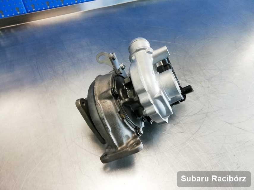 Zregenerowana w laboratorium w Raciborzu turbosprężarka do aut  producenta Subaru przygotowana w laboratorium naprawiona przed spakowaniem
