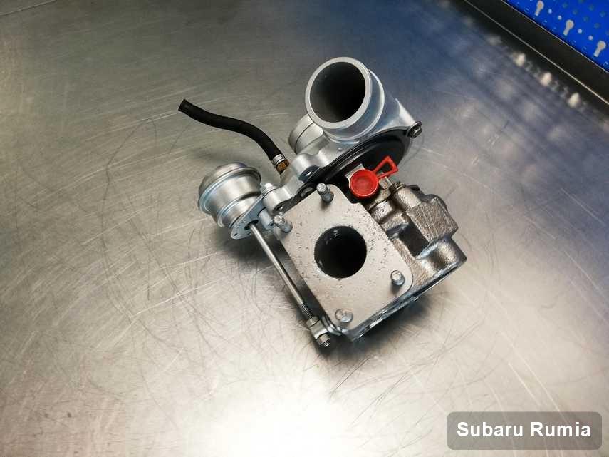 Naprawiona w laboratorium w Rumi turbosprężarka do auta koncernu Subaru przyszykowana w warsztacie po regeneracji przed nadaniem