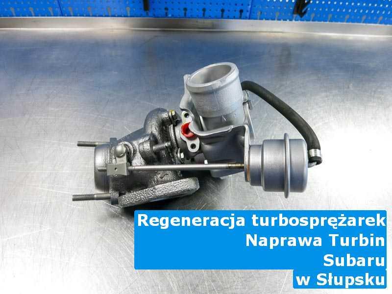 Turbosprężarki z pojazdu marki Subaru w pracowni w Słupsku