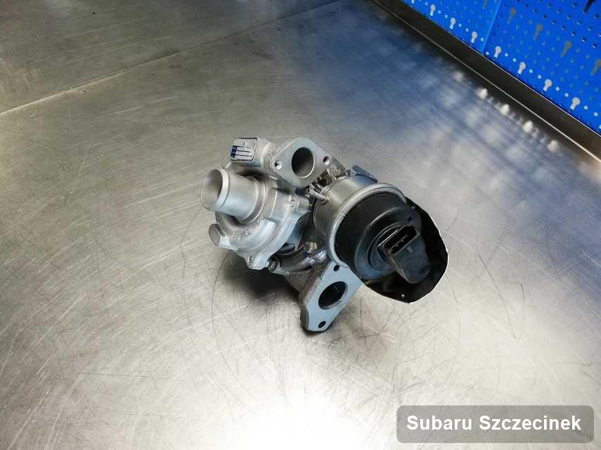 Wyczyszczona w firmie zajmującej się regeneracją w Szczecinku turbina do samochodu spod znaku Subaru przyszykowana w laboratorium wyremontowana przed spakowaniem