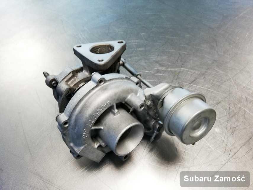 Naprawiona w firmie w Zamościu turbosprężarka do aut  koncernu Subaru przygotowana w pracowni zregenerowana przed spakowaniem