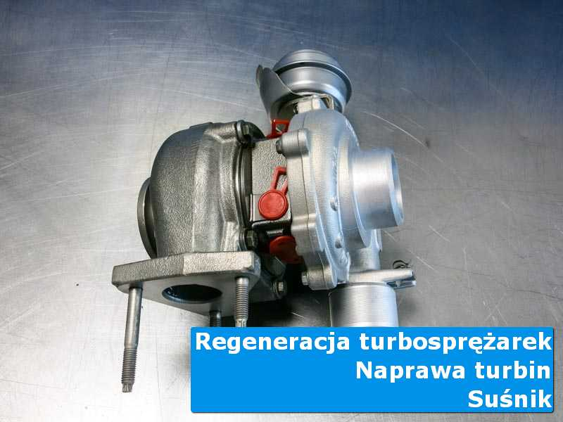 Turbosprężarka przed demontażem w nowoczesnej pracowni w Suśniku