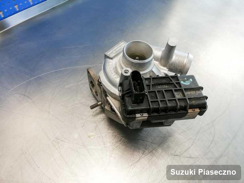 Wyremontowana w firmie zajmującej się regeneracją w Piasecznie turbosprężarka do osobówki spod znaku Suzuki przyszykowana w warsztacie zregenerowana przed wysyłką