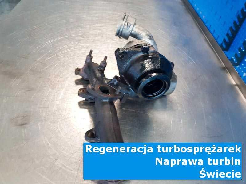 Turbosprężarka po demontażu w autoryzowanym serwisie z Świecia