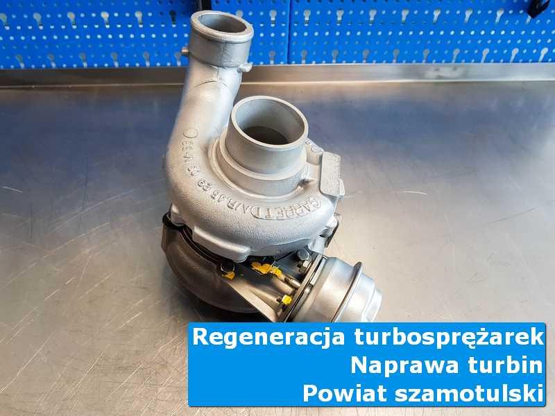 Turbosprężarka przed wysyłką w profesjonalnym serwisie, powiat szamotulski