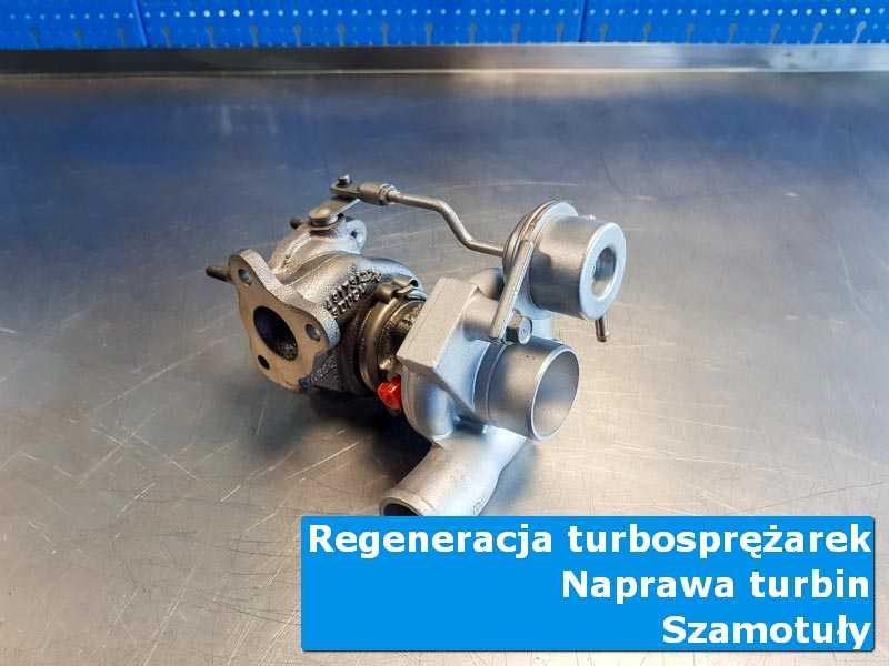 Układ turbodoładowania po czyszczeniu na stole w laboratorium z Szamotuł