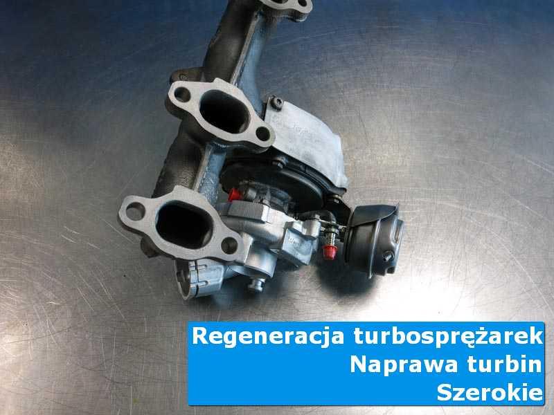 Układ turbodoładowania po demontażu w autoryzowanej pracowni w Szerokich