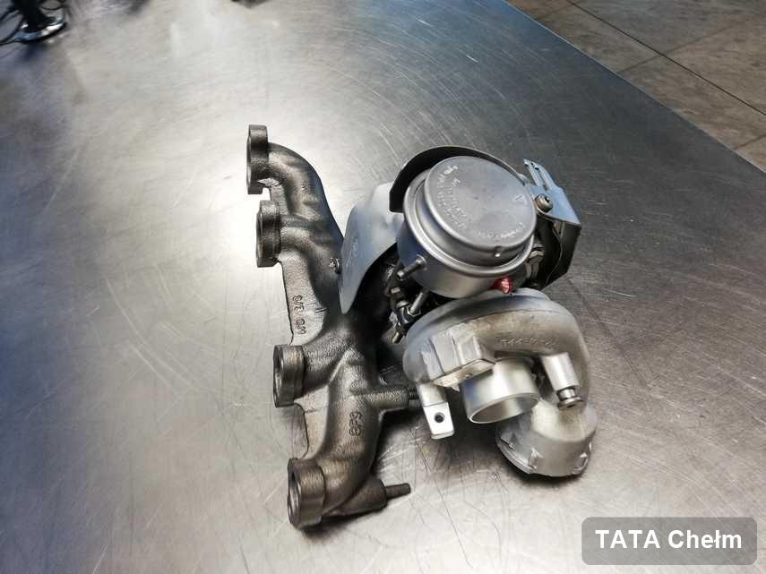 Wyczyszczona w pracowni w Chełmie turbina do osobówki z logo TATA przygotowana w laboratorium naprawiona przed nadaniem