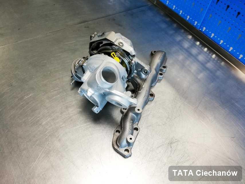 Zregenerowana w przedsiębiorstwie w Ciechanowie turbina do samochodu koncernu TATA przygotowana w laboratorium wyremontowana przed wysyłką