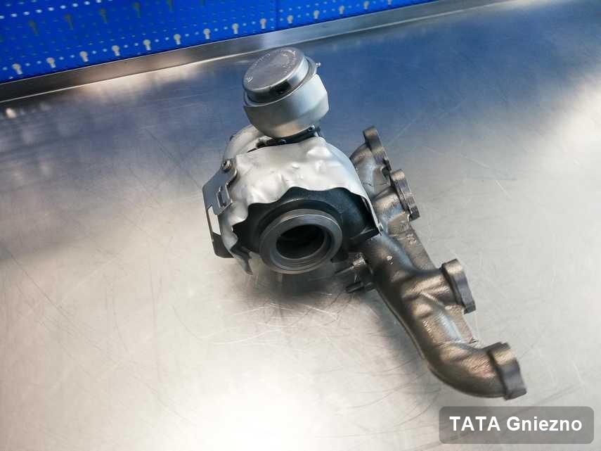 Zregenerowana w laboratorium w Gnieznie turbosprężarka do pojazdu koncernu TATA przyszykowana w pracowni po naprawie przed nadaniem
