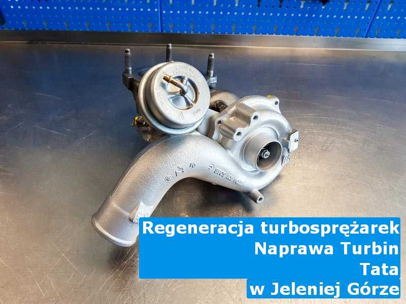 Turbosprężarki z samochodu TATA w pracowni regeneracji pod Jelenią Górą
