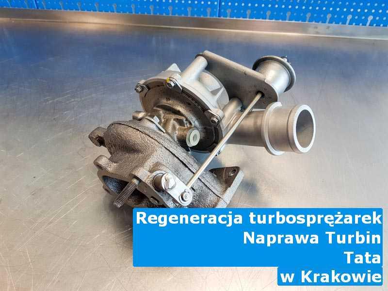 Turbosprężarki z pojazdu marki TATA w pracowni regeneracji w Krakowie