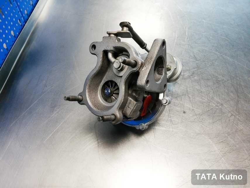 Wyczyszczona w laboratorium w Kutnie turbosprężarka do osobówki marki TATA przygotowana w warsztacie wyremontowana przed spakowaniem