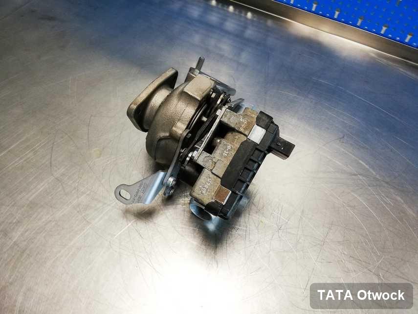 Naprawiona w firmie w Otwocku turbosprężarka do osobówki firmy TATA przyszykowana w laboratorium zregenerowana przed spakowaniem