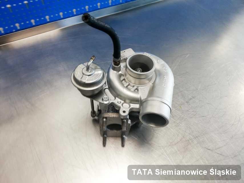 Wyczyszczona w pracowni regeneracji w Siemianowicach Śląskich turbina do auta marki TATA przygotowana w pracowni po naprawie przed wysyłką