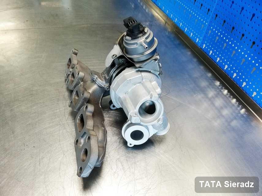 Wyczyszczona w firmie w Sieradzu turbina do samochodu firmy TATA przygotowana w warsztacie po remoncie przed nadaniem