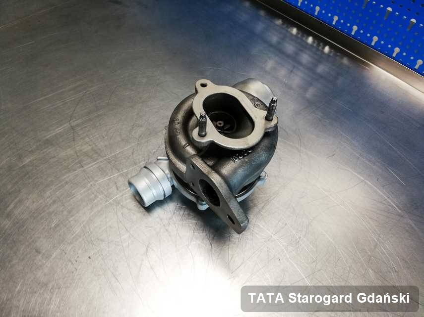 Wyczyszczona w laboratorium w Starogardzie Gdańskim turbina do pojazdu spod znaku TATA przygotowana w laboratorium zregenerowana przed nadaniem
