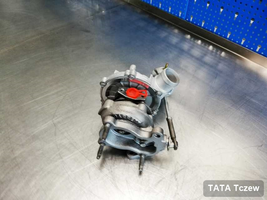 Zregenerowana w przedsiębiorstwie w Tczewie turbina do samochodu spod znaku TATA przygotowana w laboratorium po naprawie przed spakowaniem