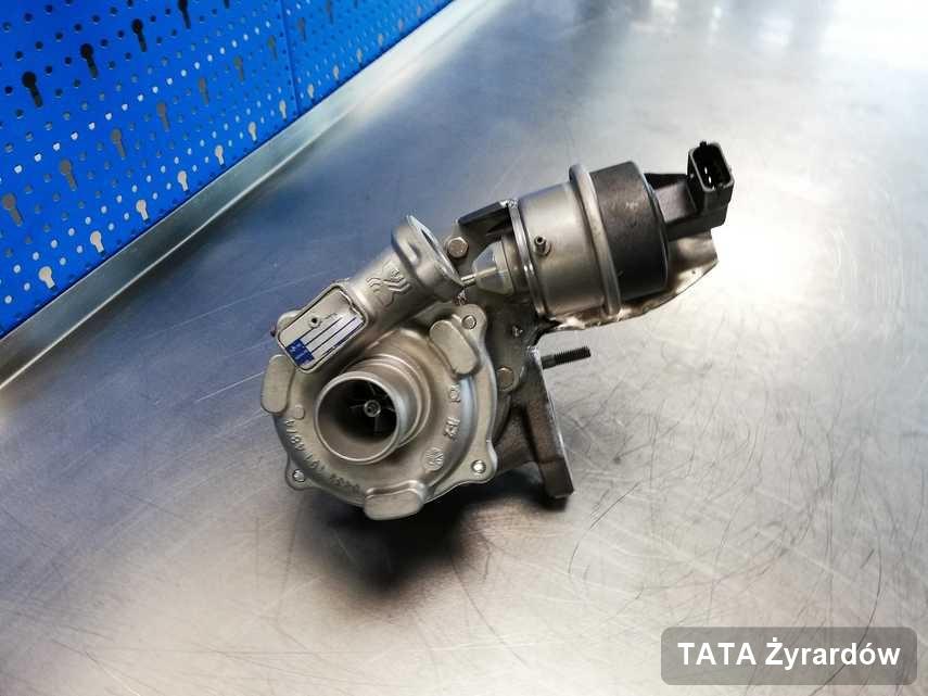 Zregenerowana w laboratorium w Żyrardowie turbosprężarka do samochodu z logo TATA przyszykowana w laboratorium wyremontowana przed spakowaniem