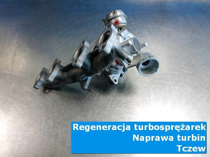 Turbosprężarka przed pakowaniem na stole w pracowni z Tczewa
