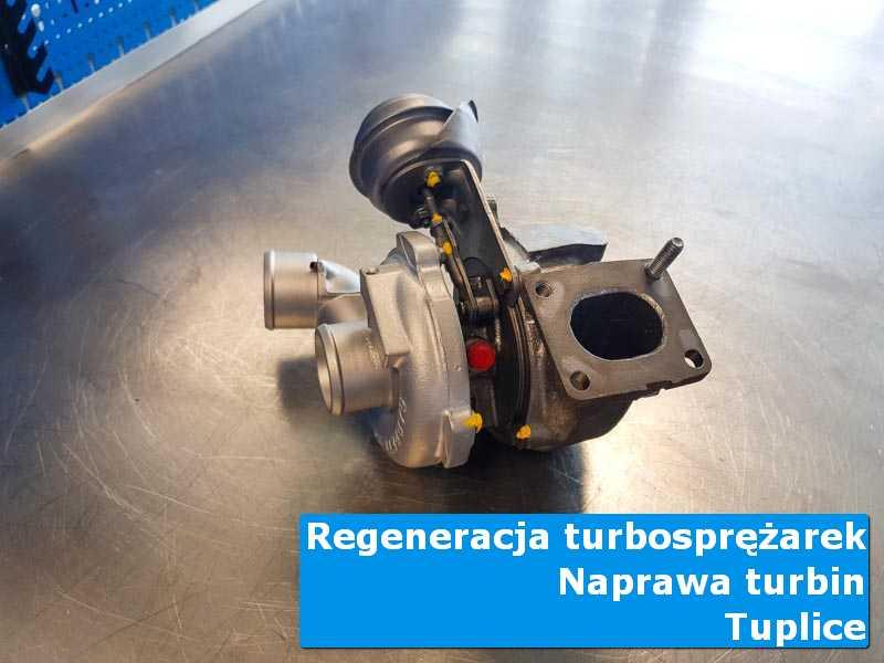 Turbosprężarka przed demontażem na stole pracowniczym z Tuplic