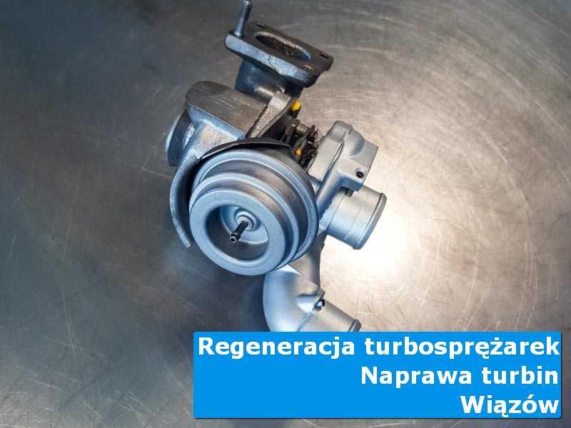 Układ turbodoładowania przed pakowaniem w specjalistycznej pracowni w Wiązowie